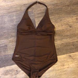 Sexy SPEEDO chocolate swimsuit sz 12